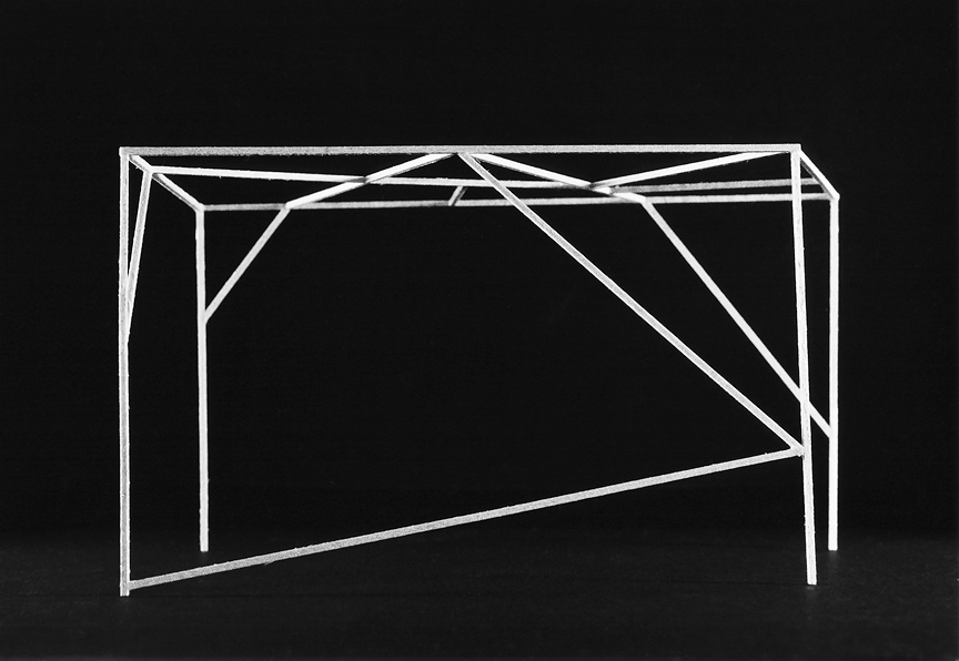 <b>Scaffold 1</b>, 2013, gelatin silver print, 6.5 x 8 inches